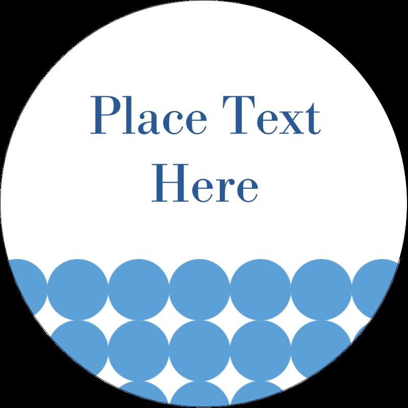 "1½"" Round Label - Blue Circles"