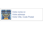 Menora Étiquettes D'Adresse - gabarit prédéfini. <br/>Utilisez notre logiciel Avery Design & Print Online pour personnaliser facilement la conception.