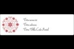 Flocon de neige tourbillonnant Étiquettes D'Adresse - gabarit prédéfini. <br/>Utilisez notre logiciel Avery Design & Print Online pour personnaliser facilement la conception.