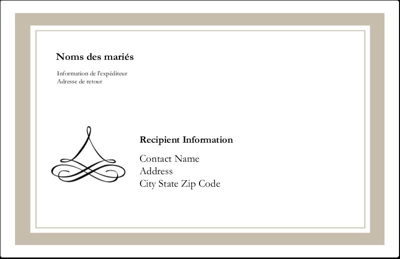 """8½"""" x 5½"""" Étiquettes d'expédition - Mariage simple"""