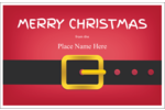 Bring holiday chuckles to custom projects with pre-designed Minimalist Santa templates.