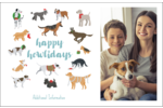 Add furry fun to custom projects with printable pre-designed Happy Howlidays templates.