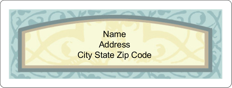 "1"" x 2⅝"" Address Label - Vintage Green"