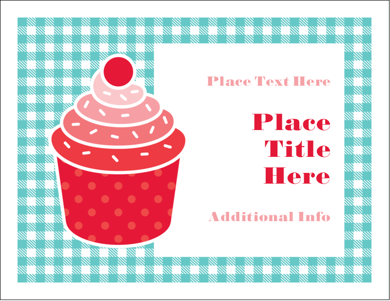 "5½"" x 4¼"" Note Card - Cupcake Kit"