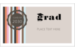Add a formal sense of accomplishment to your project with pre-designed Grad Cap templates.