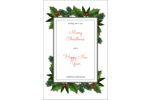 Add holiday greenery to custom projects with pre-designed Christmas Border templates.
