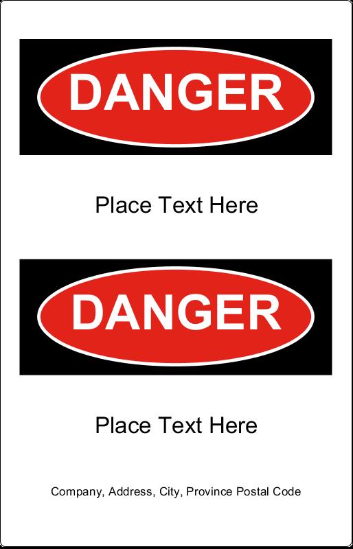 """5"""" x 7½"""" Industrial Label - Danger"""