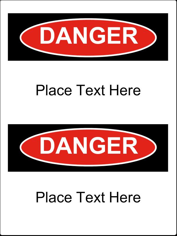"""4½"""" x 3½"""" Industrial Label - Danger"""