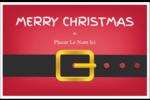 Père Noël minimaliste Cartes de souhaits pliées en deux - gabarit prédéfini. <br/>Utilisez notre logiciel Avery Design & Print Online pour personnaliser facilement la conception.