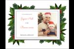 Bordure florale de Noël Cartes de notes - gabarit prédéfini. <br/>Utilisez notre logiciel Avery Design & Print Online pour personnaliser facilement la conception.