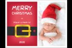 Père Noël minimaliste Cartes de notes - gabarit prédéfini. <br/>Utilisez notre logiciel Avery Design & Print Online pour personnaliser facilement la conception.