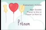 Ballon d'amour de Saint-Valentin Badges - gabarit prédéfini. <br/>Utilisez notre logiciel Avery Design & Print Online pour personnaliser facilement la conception.