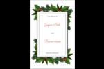 Bordure florale de Noël Cartes Et Articles D'Artisanat Imprimables - gabarit prédéfini. <br/>Utilisez notre logiciel Avery Design & Print Online pour personnaliser facilement la conception.