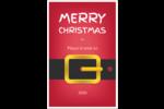 Père Noël minimaliste Cartes Et Articles D'Artisanat Imprimables - gabarit prédéfini. <br/>Utilisez notre logiciel Avery Design & Print Online pour personnaliser facilement la conception.