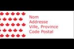 Motif à feuille d'érable Étiquettes D'Adresse - gabarit prédéfini. <br/>Utilisez notre logiciel Avery Design & Print Online pour personnaliser facilement la conception.
