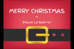 Père Noël minimaliste Étiquettes rectangulaires - gabarit prédéfini. <br/>Utilisez notre logiciel Avery Design & Print Online pour personnaliser facilement la conception.