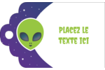 Fête d'extraterrestres Étiquettes imprimables - gabarit prédéfini. <br/>Utilisez notre logiciel Avery Design & Print Online pour personnaliser facilement la conception.