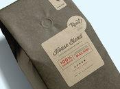 Kraft brown coffee labels