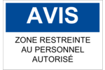 Avis - Zone réglementée Étiquette Industrielles - gabarit prédéfini. <br/>Utilisez notre logiciel Avery Design & Print Online pour personnaliser facilement la conception.