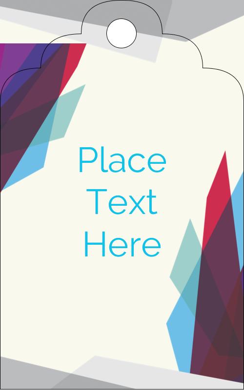 "2"" x 1⅛"" Printable Tags - Architecture Gem Colors"