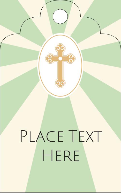 "2"" x 1⅛"" Printable Tags - Pastel Cross"