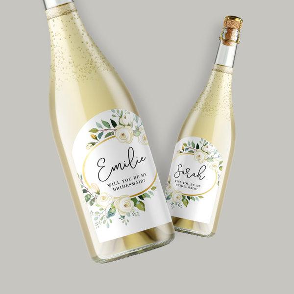 Étiquettes de vin de mariage