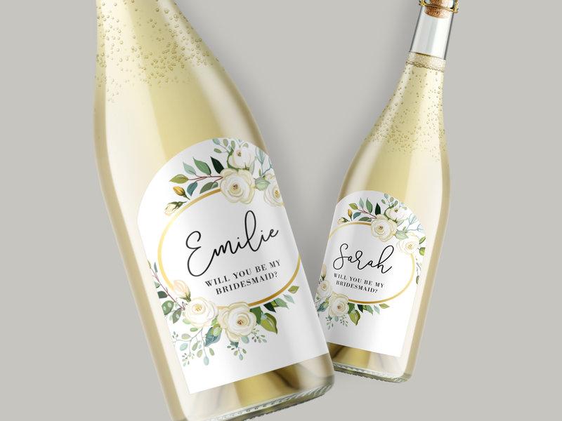 Customized wedding wine