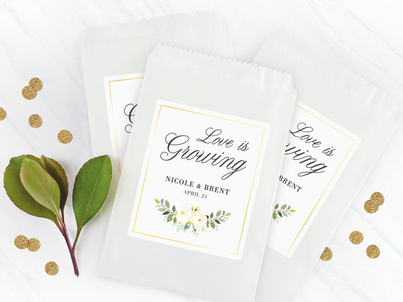 Rectangle Labels for wedding packages