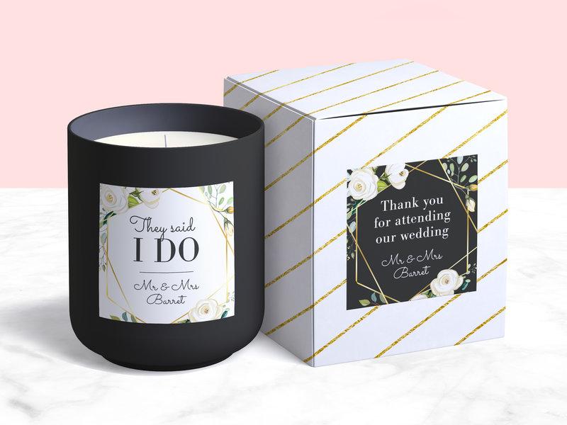 Labels for wedding giveaways