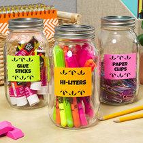 Ces étiquettes fluo ajoutent du plaisir à la planification fonctionnelle de la salle de classe