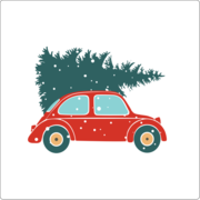 Festive VW Bug
