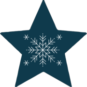 Modern Snowflake Navy