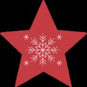Modern Snowflake Red