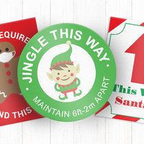 Holiday Themed Social Distancing Signs