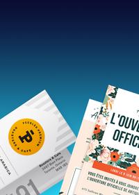 cartes d'affaires imprimées personnalisées